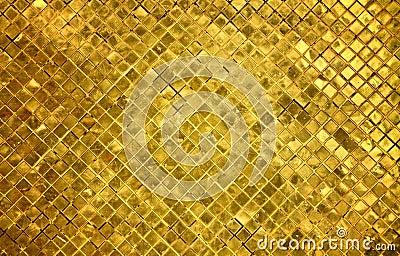 Golden Tiles Background Stock Photos Image 15958713