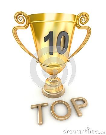 Golden top 10 cup