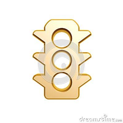 Golden traffic light symbol