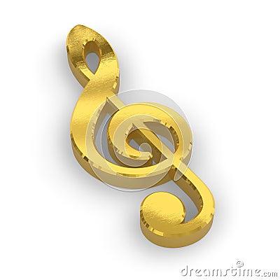 Golden treble clef