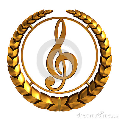 Free Golden Treble Clef. 3D Model. Stock Photography - 50309342
