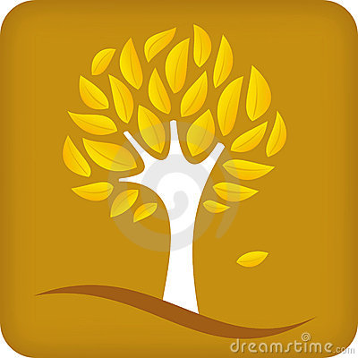Golden tree (vector)