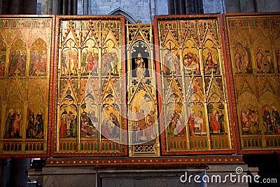 Golden triptych