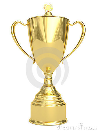 Free Golden Trophy Cup On White Royalty Free Stock Photos - 13842468