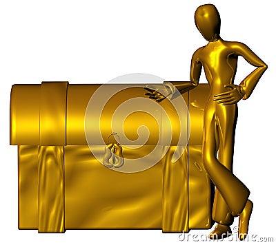Golden trunk