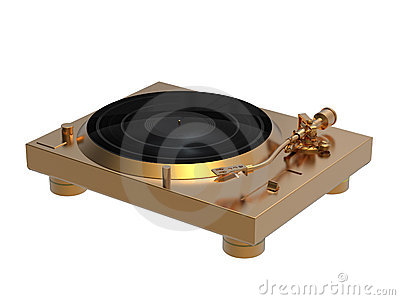 Golden turntable