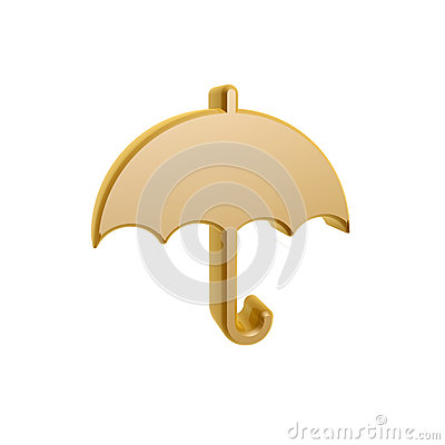 Golden umbrella symbol