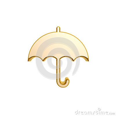 Golden umbrella symbol