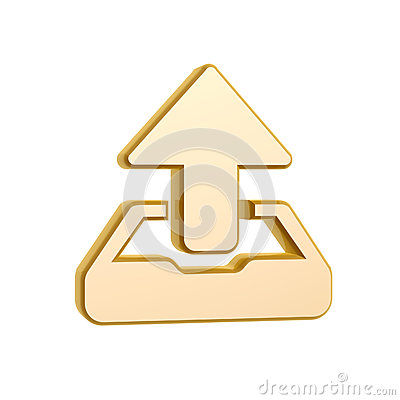 Golden upload symbol