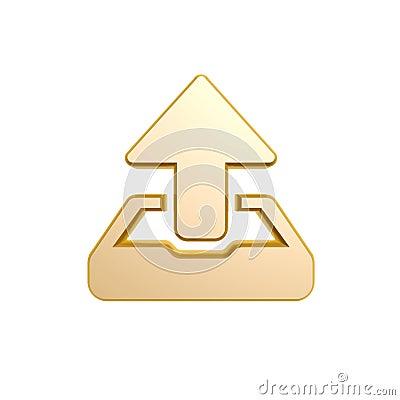 Golden upload symbol