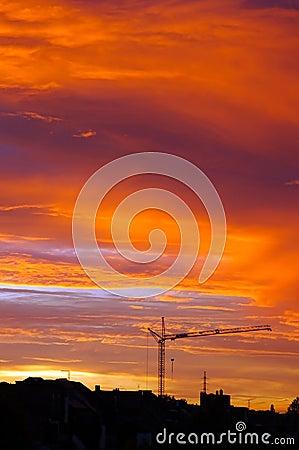 Golden Urban Sunset.