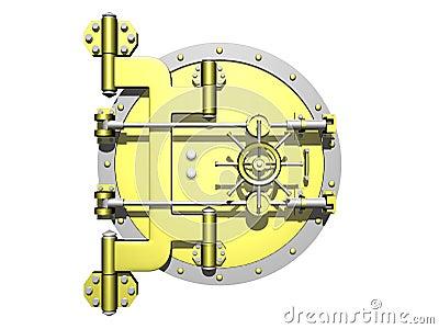 Golden vault door closed