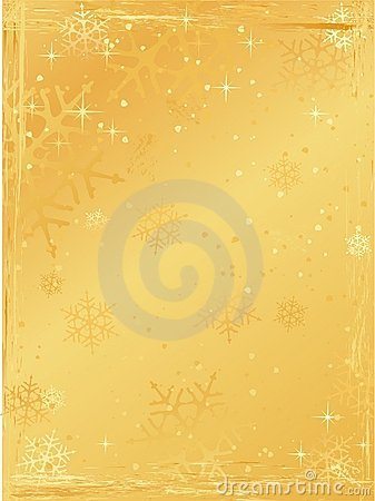 Golden vertical grunge christmas background