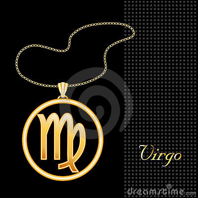Golden Virgo Necklace
