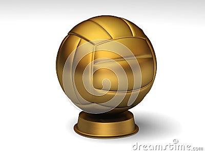 Golden volleyball trophy