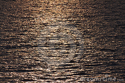 Golden water ripples