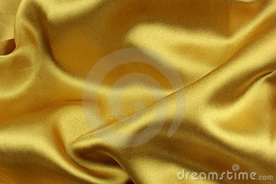 Golden wavy silk fabric