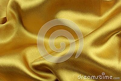 Golden wavy silk fabric