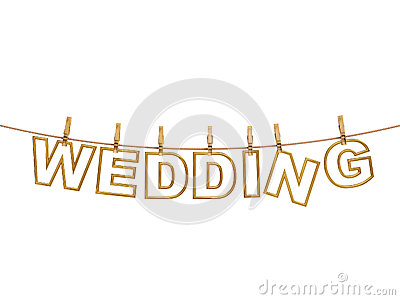 wedding letters stock image image 33062721
