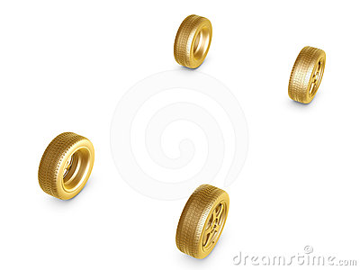 Golden wheel tire