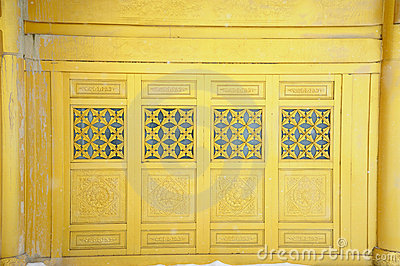 Golden window of  temple  at MT.Emei