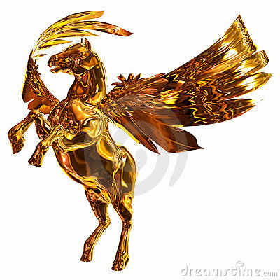Golden Winged Horse