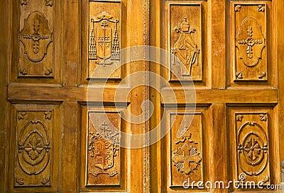 Golden Wood Church Door Mexico