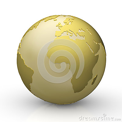 Free Golden World Globe Stock Images - 34917564
