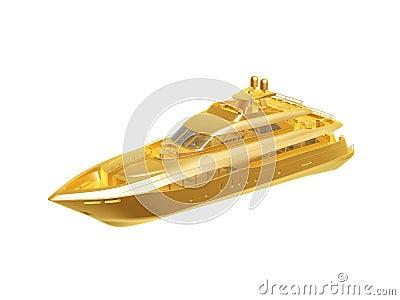 Golden yacht