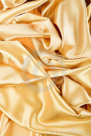 Golden Yellow Satin Background