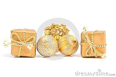 Goldene geschenke und dekoration stockfoto bild 12312120 for Dekoration geschenke