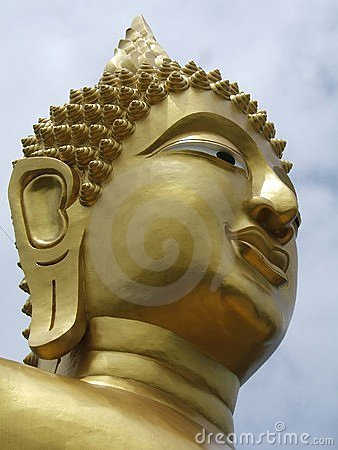 Goldenen Buddhas Gesicht