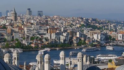 Goldener Hupen-Schacht Istanbul stock video footage