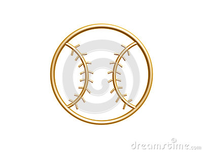 Goldenes Baseballsymbol