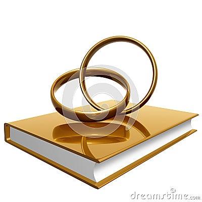 goldenes buch ber hochzeit und liebe lizenzfreie stockfotografie bild 14196827. Black Bedroom Furniture Sets. Home Design Ideas