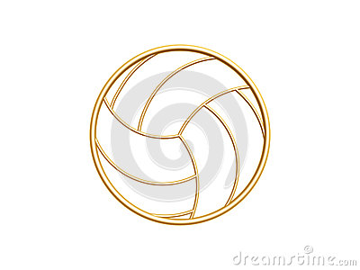 Goldenes Volleyballsymbol