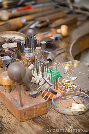 Goldsmith Tools Royalty Free Stock Photography - Image: 8027477