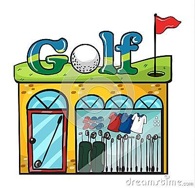 Golf accessories store