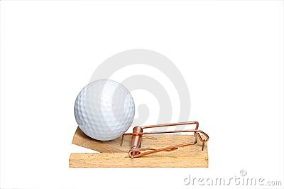 Golf addiction concept