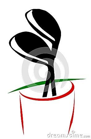 Free Golf Bag Royalty Free Stock Image - 1446006