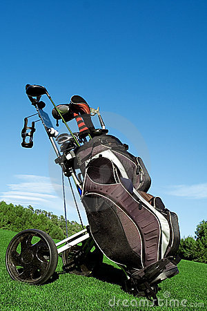 Free Golf Bag Royalty Free Stock Photo - 1986605