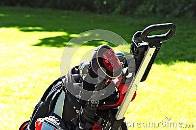 Golf bag on court