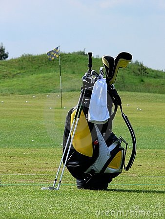 Free Golf Bag On A Field Stock Photo - 6491680
