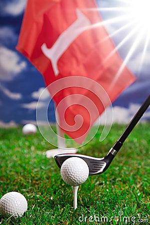 Golf ball and bat