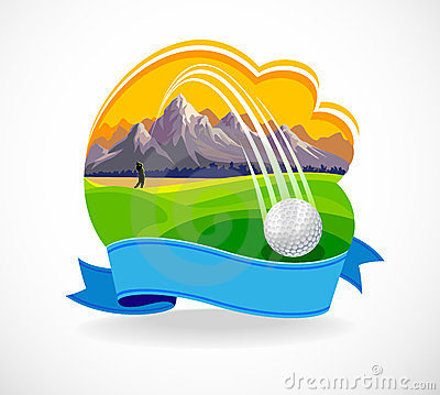 Golf Ball And A Beautiful Golf Club