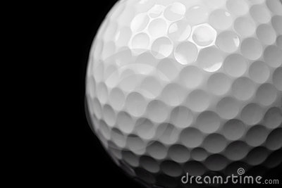 Golf Ball On Black Royalty Free Stock Images - Image: 12411289