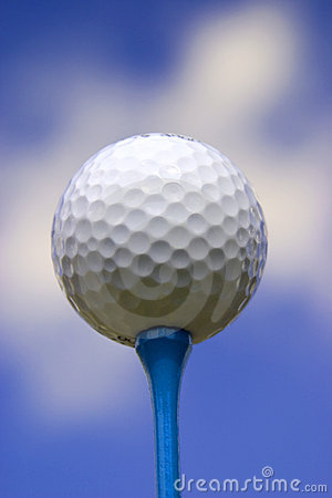 Golf Ball on Blue Tee #2