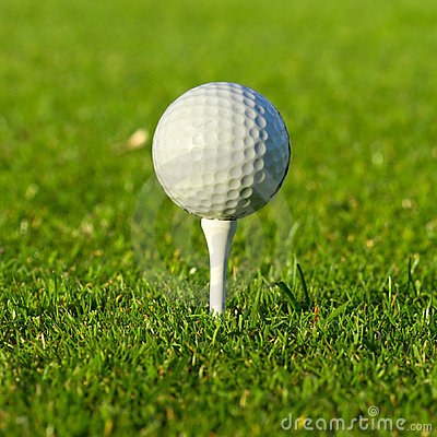 Golf ball close up