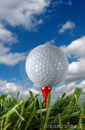 Golf Ball and clouds