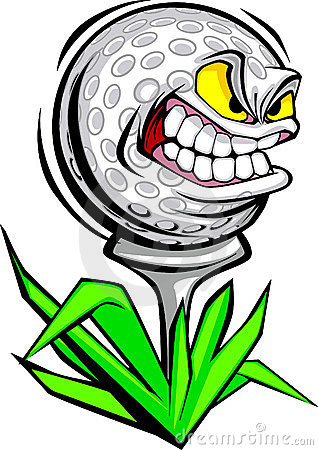 golf ball face vector image stock photography image